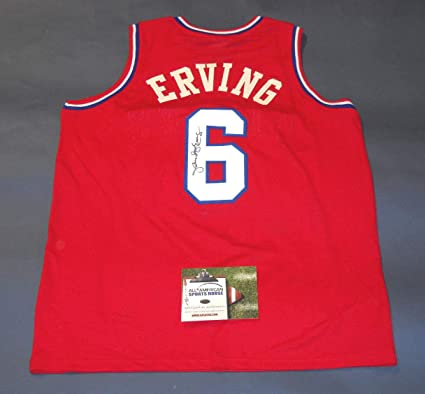 61a18b05 JULIUS ERVING AUTOGRAPHED PHILADELPHIA 76ERS JERSEY AASH DR J SIXERS at  Amazon's Sports Collectibles Store