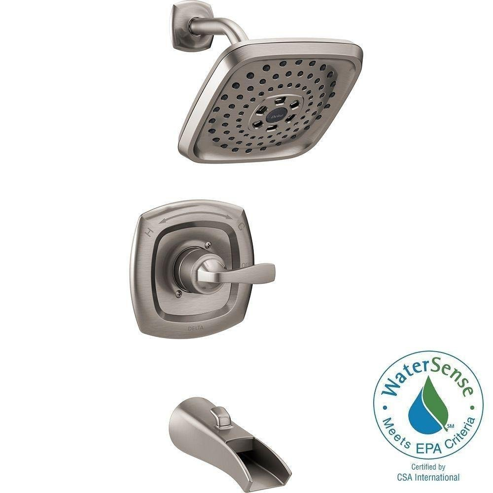 Delta 144724-SS Tolva Single Handle H2O Kinetic Tub and Shower ...