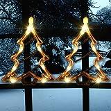 Christmas Lighted Window Decorations Xmas Trees Silhouette | 1PCS