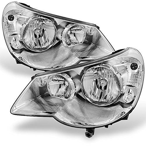 Headlamp Headlight 4dr Light - For Chrysler Sebring 4Dr Sedan Chrome Clear Replacement Headlights Headlamp Front Lamps Left+Right Pair