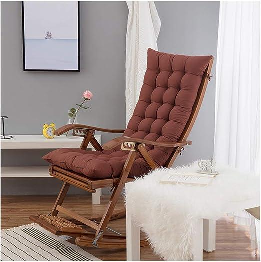 DGYAXIN Cojines para tumbonas, Espesar Silla Plegable Cojines para Muebles de jardín Cojines para Silla con Respaldo Alto Cojines universales,Brown: Amazon.es: Hogar