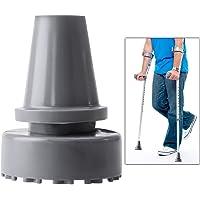 Rosenice Rubber Feet for Walking Stick Anti-slip Rubber Tip Accessories Inner Diameter 19 mm (Grey)