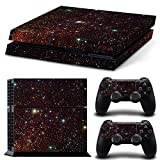 Vinyl Quiet Sky Skin Stickers Protective Cover Decal Set for PlayStation 4 PS4 Console + Controllers-TN-PS4-0226-CA