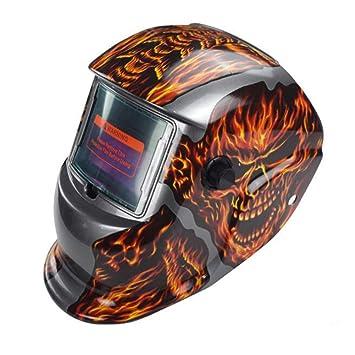 LAIABOR Careta para Soldar Soldadura Máscara Casquillo de conexión Solar fotoeléctrica de Soldadura máscara automática Gafas Protectoras automáticas: ...