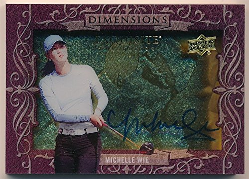 MICHELLE WIE 2013 UD EXQUISITE GOLF DIMENSIONS SHADOW BOX AUTOGRAPH SP AUTO (Golf Memorabilia Shadow Box)