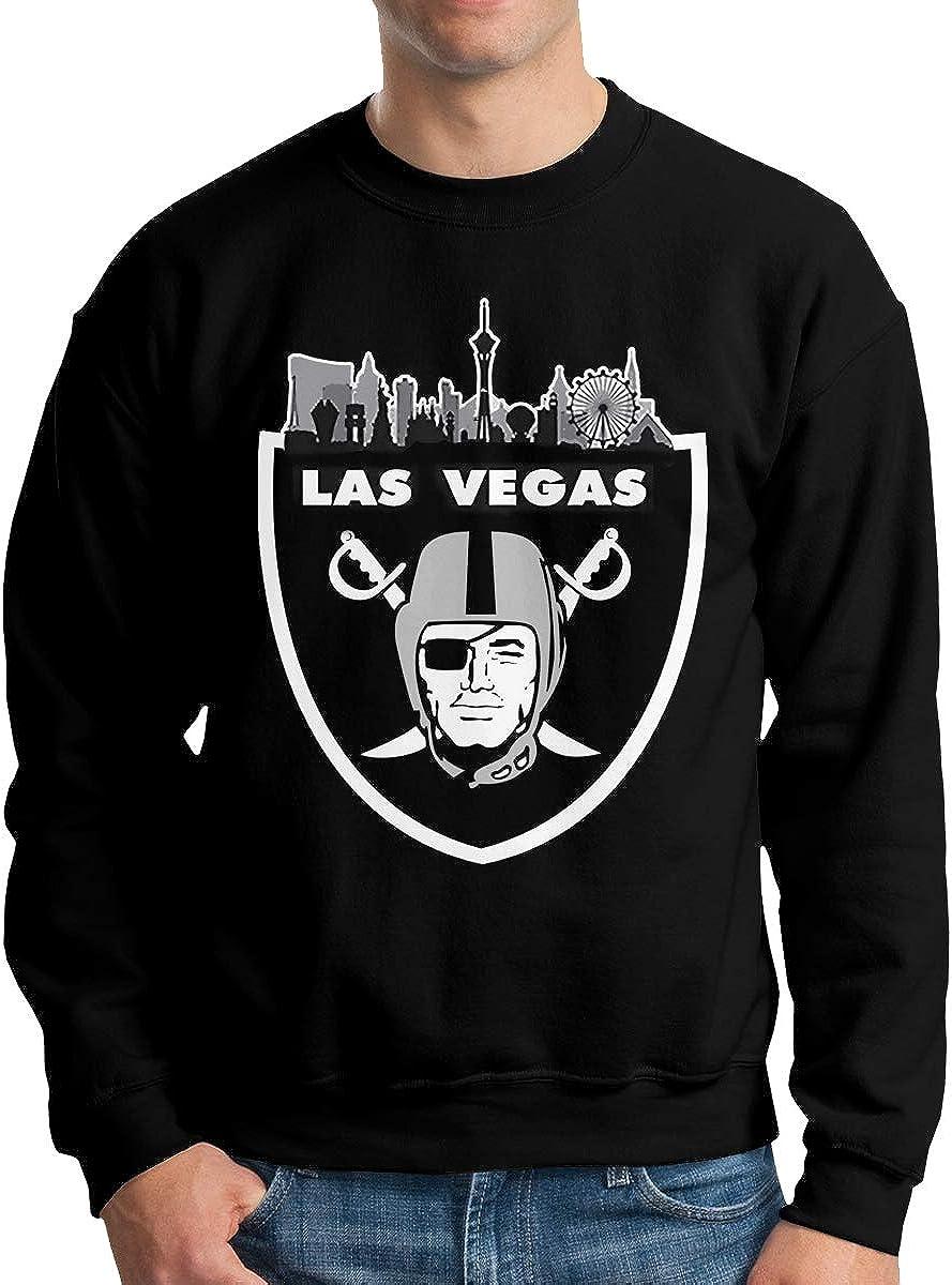 EVEKENNEDY Las Vegas Raiders Unisex Mens Fashion Pullover Sweater Crew-Neck Long Sleeve Soft Cotton Sweaters Black,