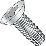 82 Degree Flat Head Steel Thread Cutting Screw 1//4 Length Type F Zinc Plated Phillips Drive #2-56 Thread Size Pack of 100