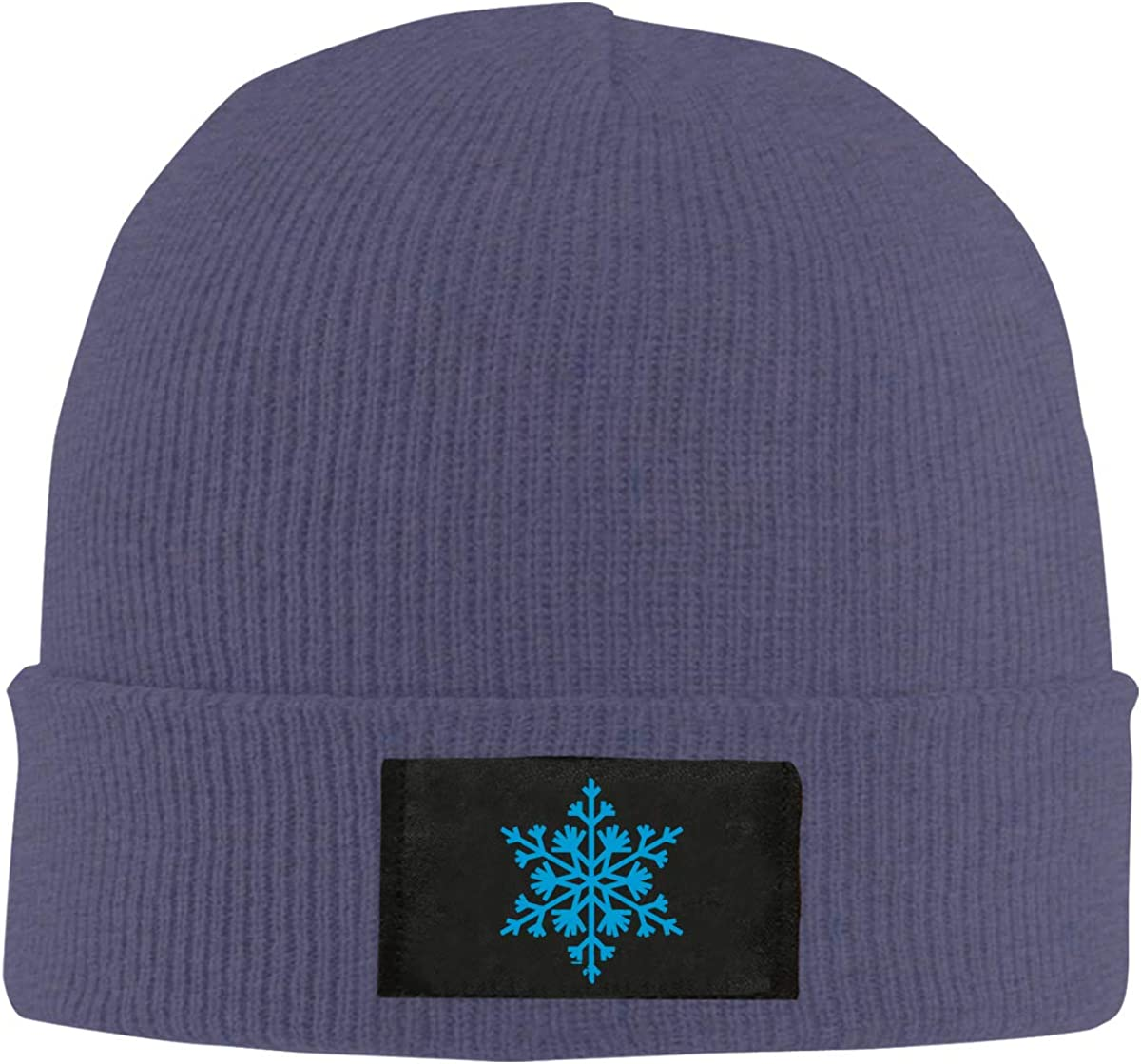 100/% Acrylic Soft Beanies Cap Mens and Womens Big Snowflakes Knitted Cap