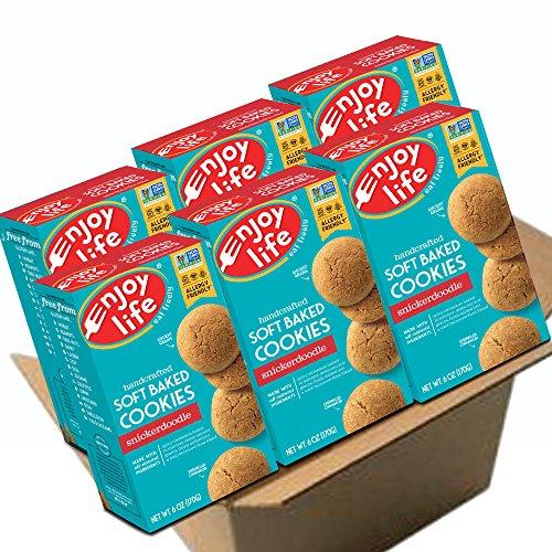 (Enjoy Life Soft Baked Cookies, Soy free, Nut free, Gluten free, Dairy free, Non GMO, Vegan, Snickerdoodle, 6 Boxes)