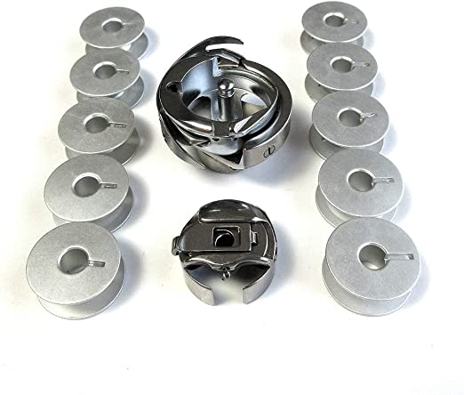 Gancho giratorio + funda de bobina + 10 bobinas para máquina de coser Singer 20U13, 20U23 Zigzag: Amazon.es: Hogar