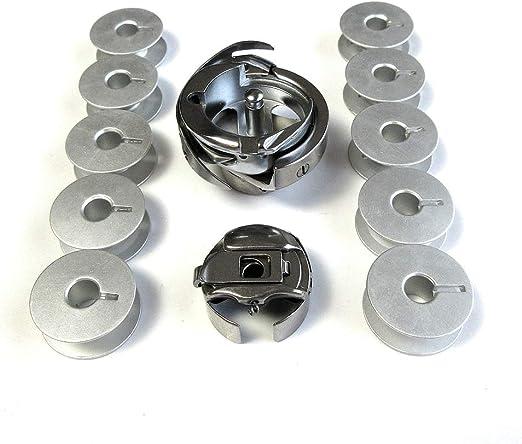 Gancho giratorio + funda de bobina + 10 bobinas para máquina de ...