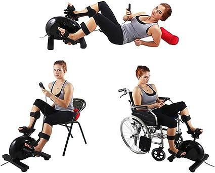konliking eléctrica física terapia rehabilitación ejercitador bicicleta interior reclinado Pedal Exerciser para bicicleta entrenamiento vertical bicicleta equipo mano brazo pie pierna rodilla formación en el hogar 180 W de alimentación: Amazon.es: Deportes