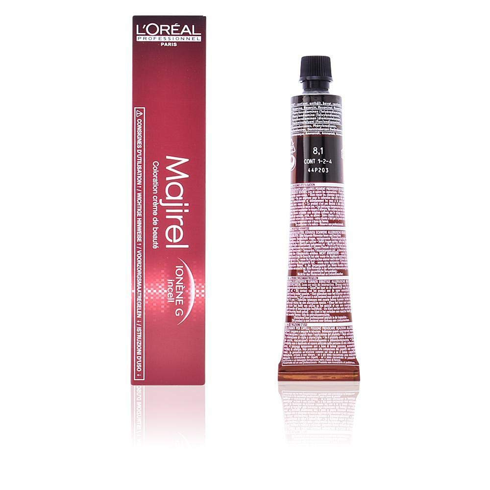 LOreal Majirel 8.1 , Color Rubio Claro Ceniza - 50 ml