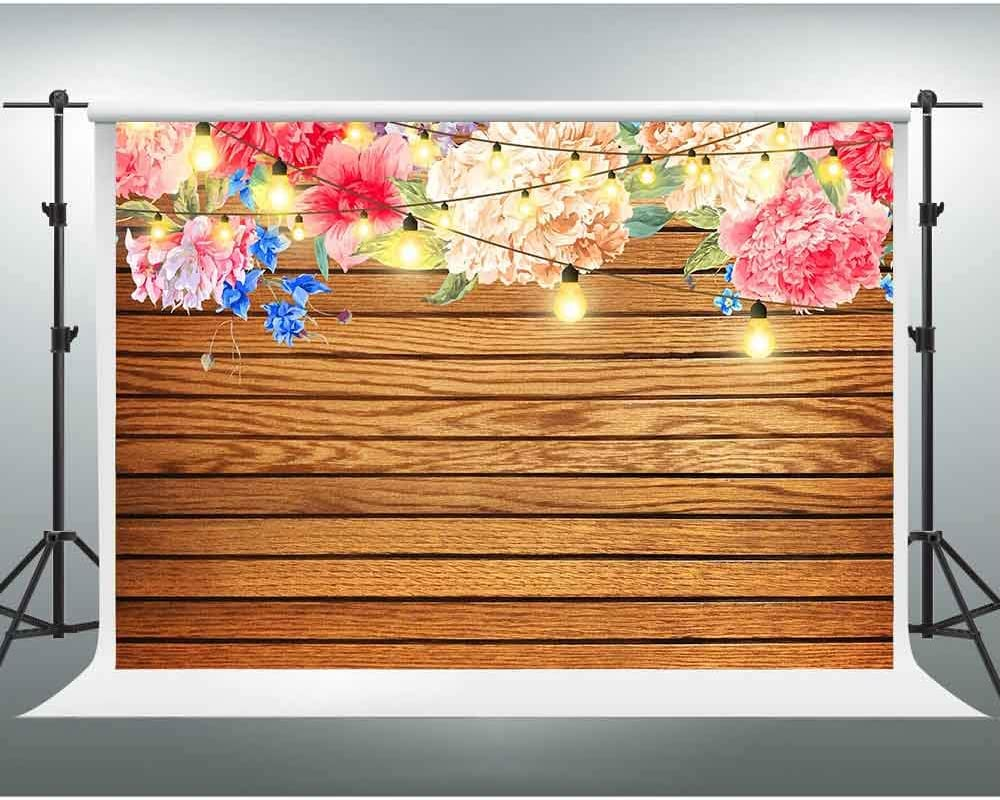 Vintage Wooden Wall Background,Watercolor Painting Backdrop,10x7ft,Themed Party Photo Backdrop LSGE549