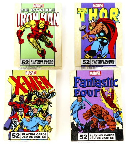 Marvel Characters Playing Cards _ Assort #2 _ 4 Unique Decks