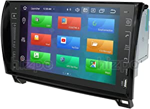 8 Core in Dash Android 9.0 Double Din 9 Inch Capacitive Touch Screen Car Stereo Video Receiver Player GPS Navigation with Bluetooth for Toyota Tundra Sequoia Multi-Media 7 Color Button Illumination