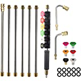 Pressure Washer Extension Wands - 120 Inch Power Washer Gutter Cleaning Tools, Telescoping Replacement Lance, Window Cleaner Nozzles Tips