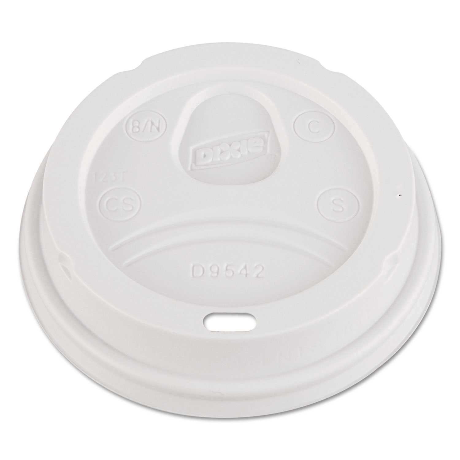 - Dome Drink-Thru Lids, Fits 12 oz. & 16 oz. Paper Hot Cups, White, 100/Pack