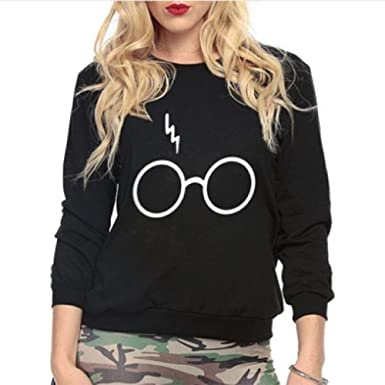 Inception Pro Infinite Sudadera - Jersey Estampado Logotipo Harry Potter Niña Gafas Relámpago Negro (Talla