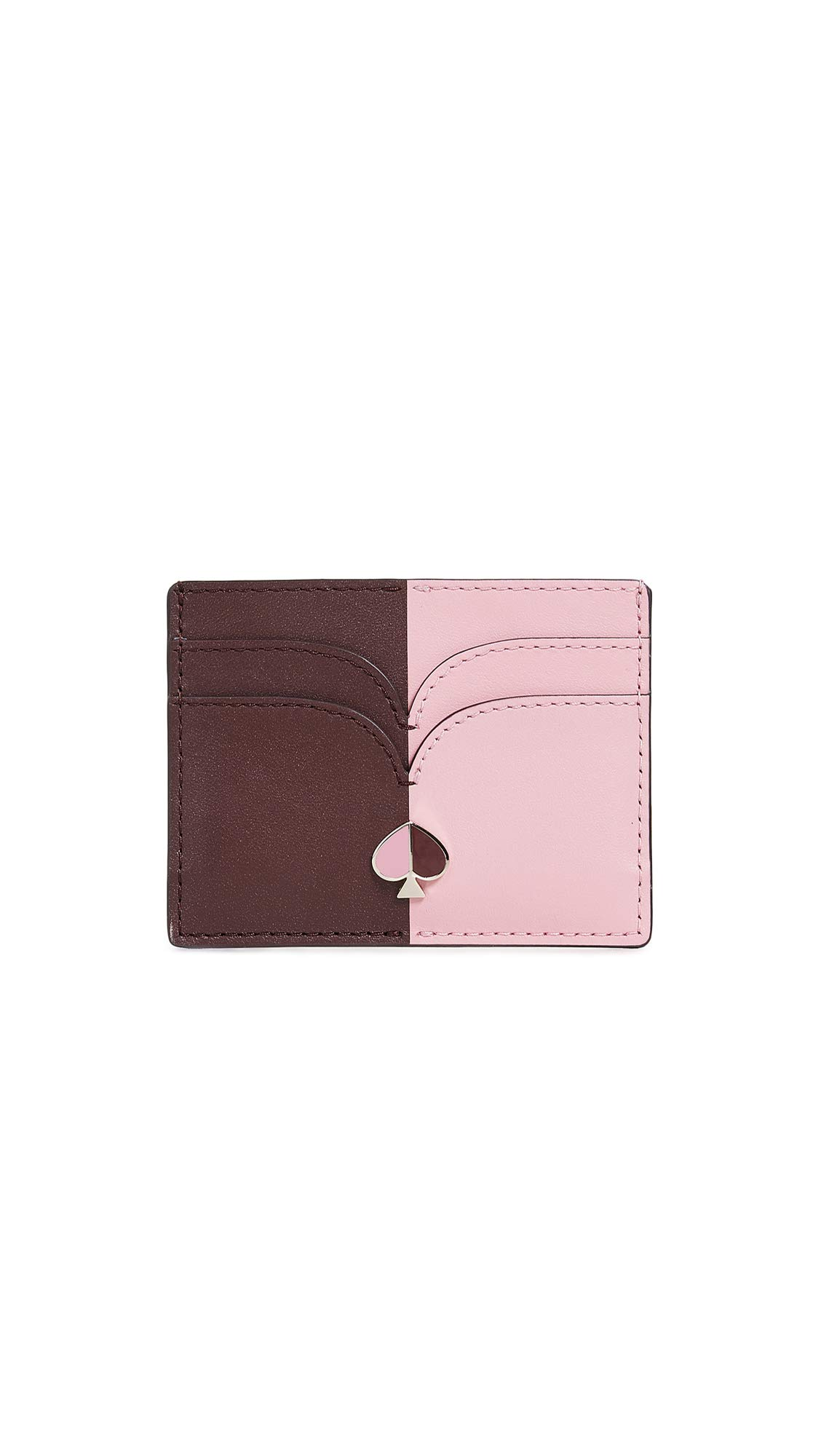 Kate Spade New York Women's Nicola Bicolor Card Holder, Roasted Fig/Rococo Pink, One Size