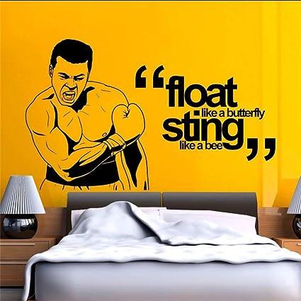 Qwerlp Muhammad Ali Boxeo Etiqueta Engomada Del Arte Flotador Como Una Mariposa Picadura Como Una Abeja