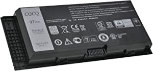 CQCQ FJJ4W Compatible Battery Replacement for Dell Precision M4800 M4600 M6600 M6800 FV993 T3NT1 CN-0JHYP2 JHYP2 312-1178 Laptop (11.1V 97Wh)