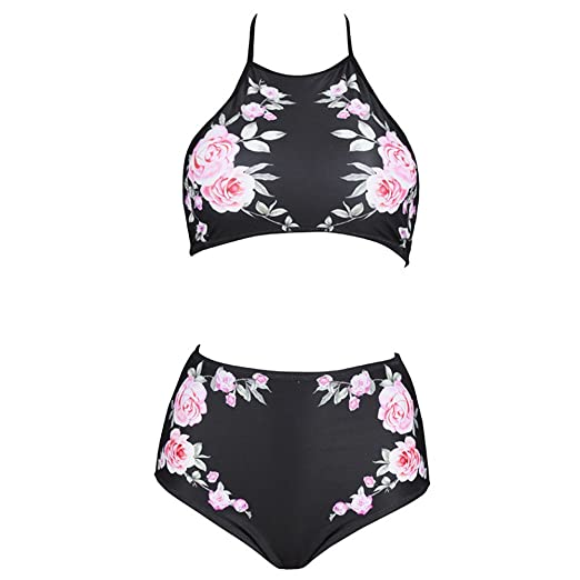 d8412c5b31 Amazon.com: iShine Women Bikini Sets Plus Size Sports Swimwear High Waisted  Bathing Suits Two Piece Swimsuits: Clothing