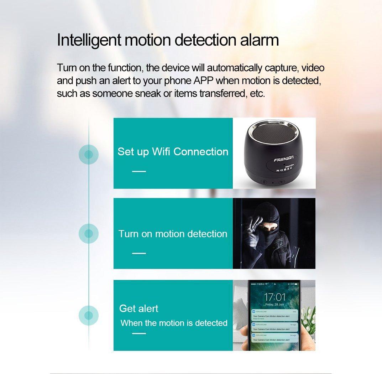 Amazon.com : WiFi HD 1080P Spy Camera Bluetooth Speakers Hidden ...