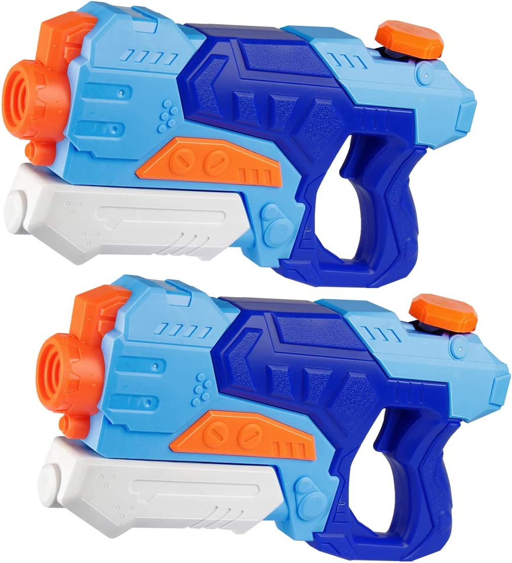 D-FantiX Water Guns 2 Pack, Super Water Blaster Soaker Squirt Guns 550CC Long Range Summer Swimming Pool Beach Party Favors Water Outdoor Toy for Kids Adults Boy Girl