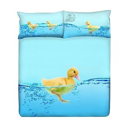 Copripiumino Gabel Piazza E Mezza.Gabel Set Copripiumino Piazza E Mezza Gabel Duck Duck Azzurro