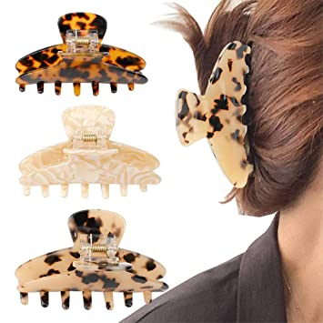 Tortoise Marble Fashionable Linda Hair Clip 4.7 Inch Big Size Luxurious French Hair Clip  Hair Claw for Woman