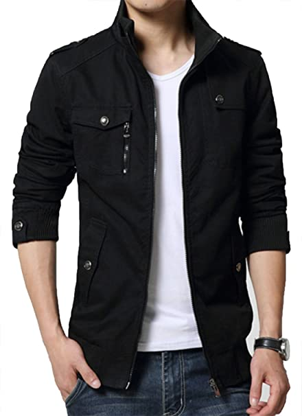 Amazon.com: XueYin - Chaqueta de algodón para hombre, estilo ...