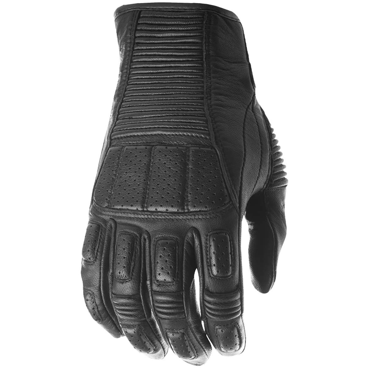 Black//Large Highway 21 Trigger Mens Street Motorcycle Gloves