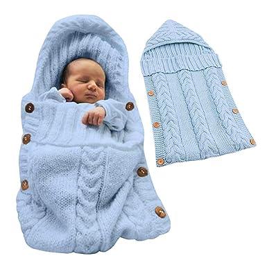 Tomwell Saco de Dormir Unisex para Bebés Recién Nacidos Manta para Bebé Carrito de Bebé Blanket Manta para 0 – 12 Meses