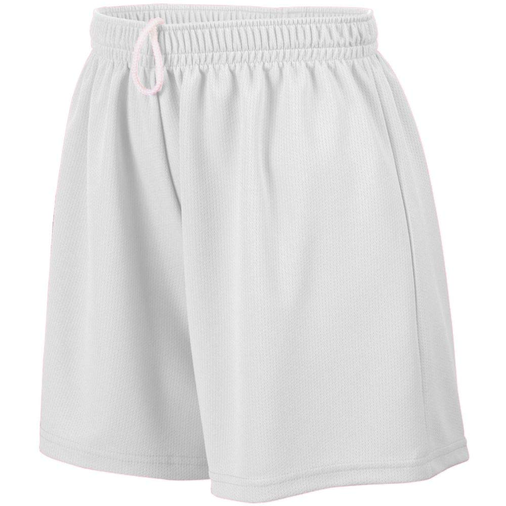 Augusta Sportswear Teen-Girls Wicking Mesh Short, White, Large by Augusta Sportswear