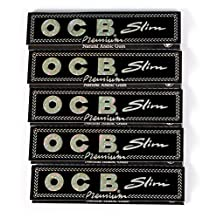 Lot of 5 Booklets Rolling Paper OCB Slim Premium King Size