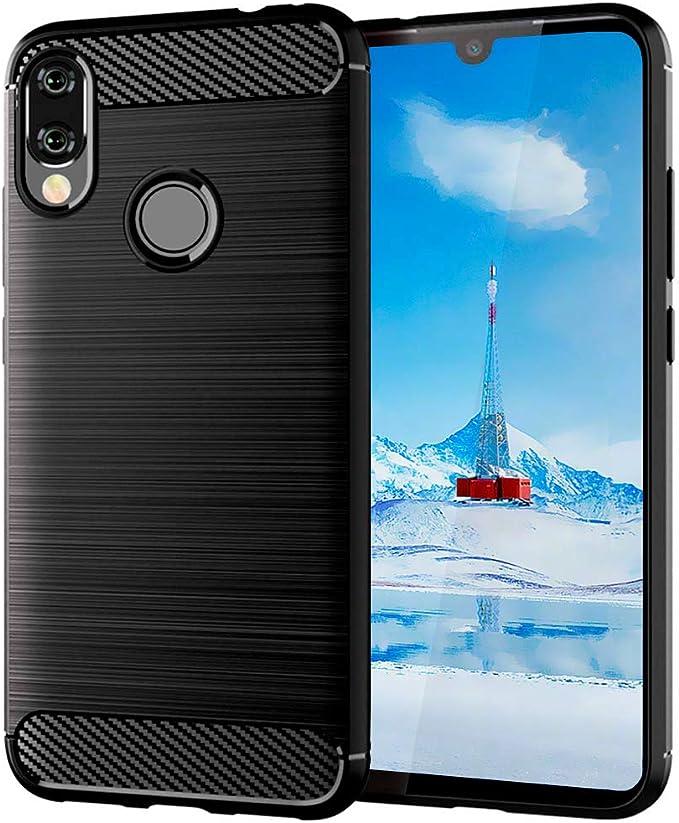 ImoreTEC Funda Xiaomi Redmi Note 7/7 Pro Negro de Silicona Dura ...