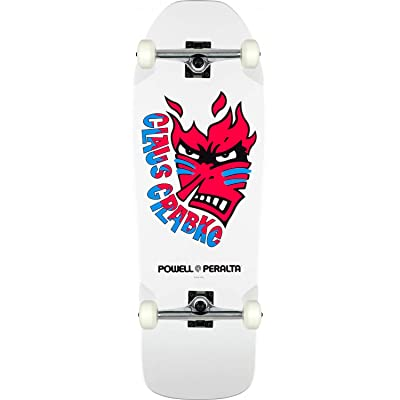 Powell-Peralta Skateboard Complete Claus Grabke White Re-Issue Assembled : Sports & Outdoors