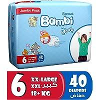 Sanita Bambi Baby Diapers Jumbo Pack Size 6, XX-Large, +18 KG, 40 Count