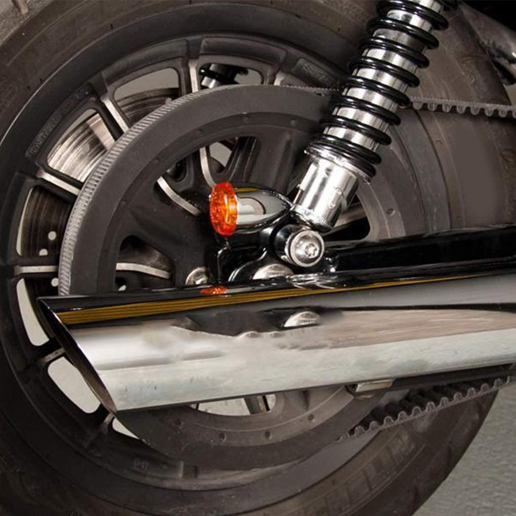 DJYJD 1 Paio girata del Motociclo del Segnale Relocation Staffe di Ricambio per Kawasaki Cafe Racer Moto Accessori