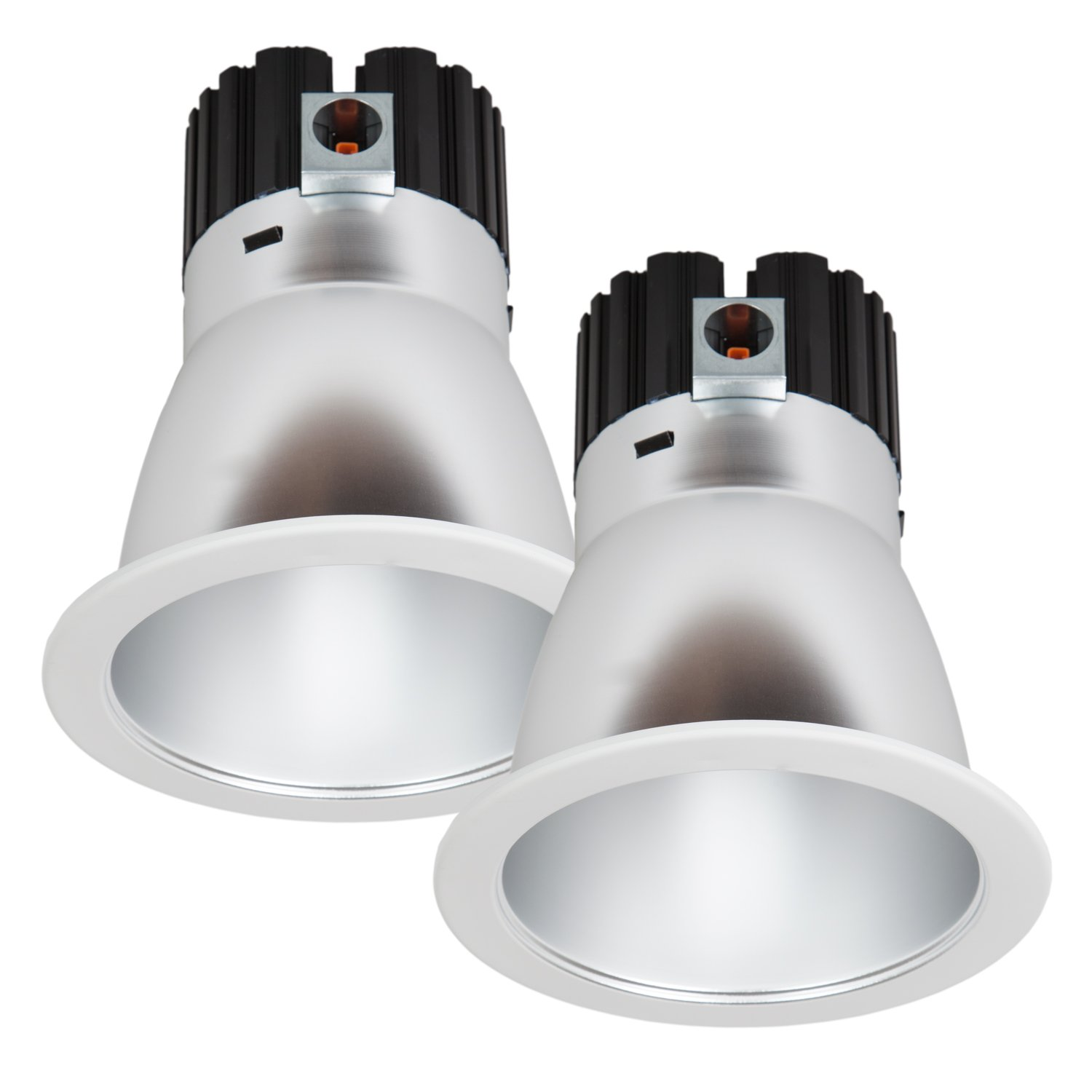 Maxxima 6 in. Commercial Recessed LED Downlight, Dimmable, 18 Watts, 1500 Lumens, 4000K Neutral White, Energy Star, Junction Box Included, Architectural Downlight (2 Pack)