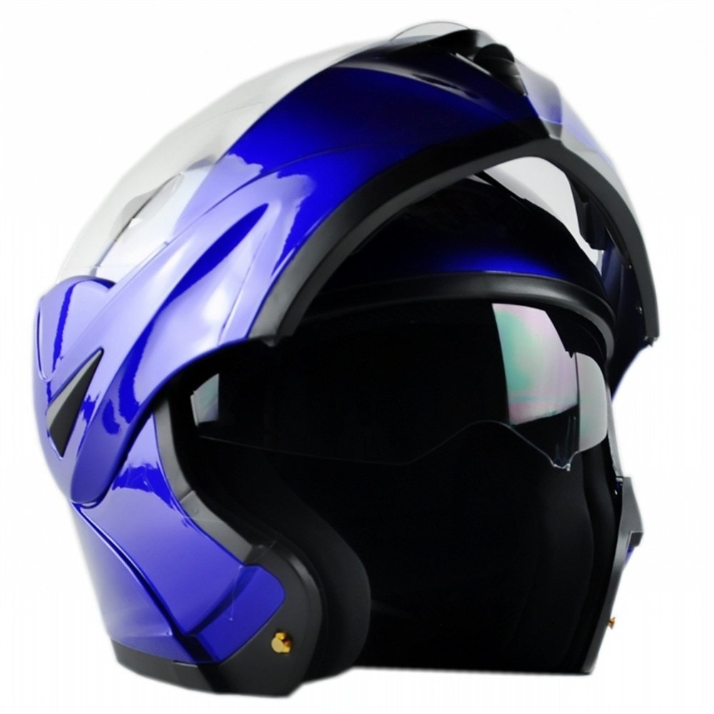 ILM Casco de motocicleta modular volteable DOT