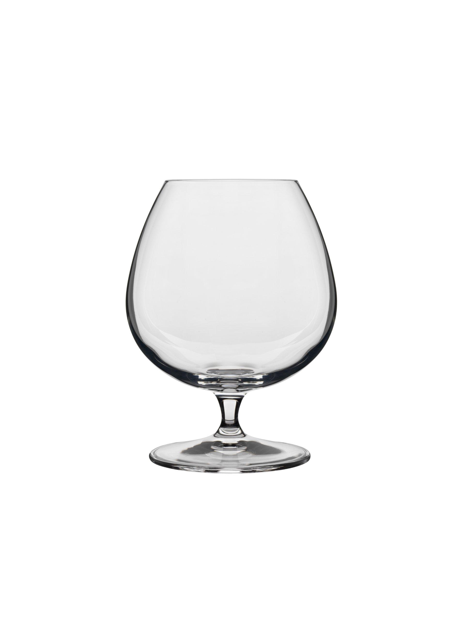 Luigi Bormioli 10564/02 Crescendo 15-1/2-Ounce Brandy Snifter,Clear, Set of 4