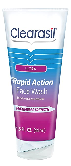 4 Pack - Clearasil Ultra Rapid Action Daily Face Wash 1.5 oz Cleansing Foam - Charcoal 3.38oz