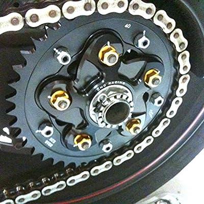 Red CNC Racing Rear Sprocket Nuts Set For Suzuki GSX-R 750 GSXR1000 GSF1200 SV650 Vstrom 650 TL1000R