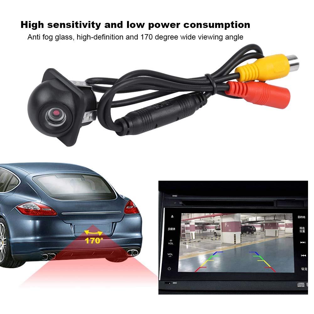 Vista laterale Fotocamera di backup Retrovisione dellautomobile Retromarcia//retromarcia Parcheggio Telecamera di backup HD 170 /° Angolo di visione Impermeabile Backup per auto//frontale