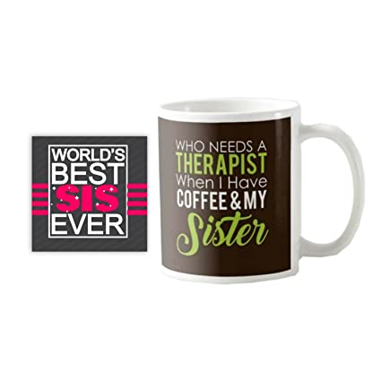Buy YaYa CafeTM Birthday Gifts For Sister Therapist Mug With Coaster Set Of 2 Online At Low Prices In India
