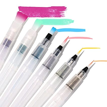 Amazon.com: SMALL MEANING Water Coloring Brush Pens, Set of 6 Brush ...