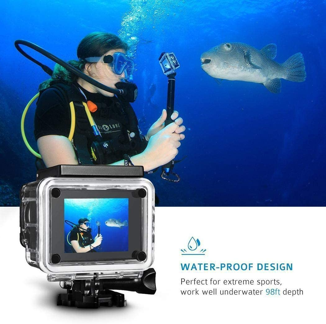 FANEO 12MP HD 1080P Digital Sports Camera Underwater Waterproof Mini Video Camcorder Sports /& Action Video Cameras