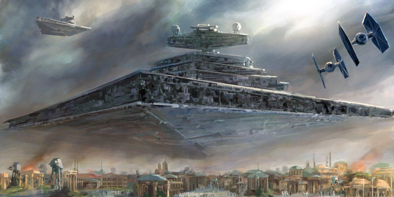 Posterhouzz Movie Star Wars Star Destroyer Tie Fighter Hd